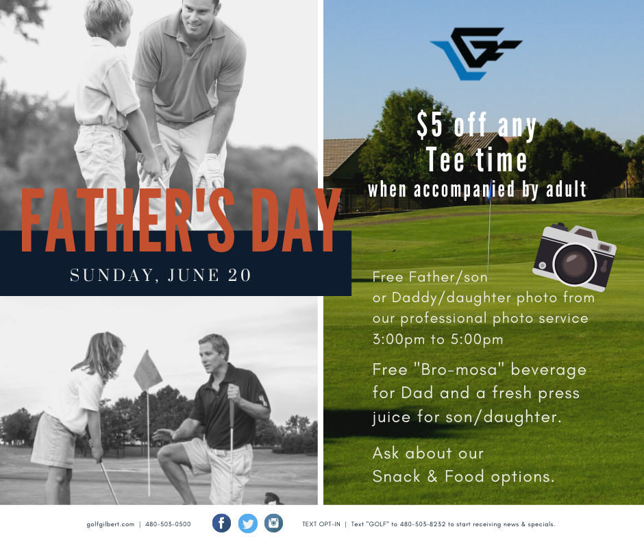 Greenfield Lakes Father's Day Specials - fb post